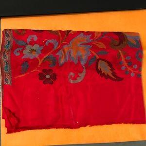 Accessories - Jaipur Red Silk Cashmere Scarf Wrap